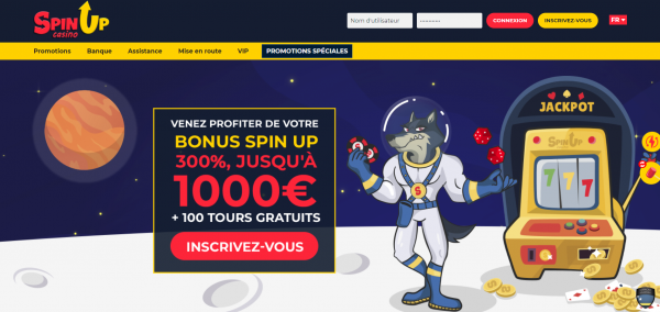 Spin Up en ligne casino